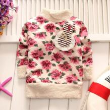 2018 Горячее предложение детская одежда для мальчиков и девочек прекрасные цветы белая пушистая пальто Теплый свитер No name 32854032801