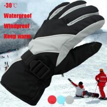 1 пара мужские зимние теплые-30 градусов Цельсия непромокаемые ветрозащитный снег сноуборд лыжные спортивные перчатки лыжи Восхождение Велоспорт KLV 32837743161