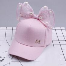 2018 Новое поступление, весенние кепки для девочек, жемчужная кружевная шляпа с бантиком для девочек, милые кепки в стиле принцессы, летняя шляпа от солнца, Лидер продаж feitong 32873657400