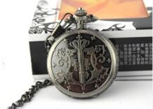Новый два стиля мультфильм Черный Батлер шире Себастьян карманные часы Аниме spagirism подарок 10 шт./лот No name 2042952882