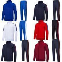 Для взрослых для мальчиков Футбол training Штаны Майки спортивный костюм для бега survetement Футбол спортивные Куртки высокого качества 6806 No name 32904075295