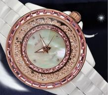 Бренд Melissa элегантный Керамика браслет Часы Популярные перемещение Кристаллы платье наручные кварцевые часы Японии аналоговый Reloj Relogio mg333 No name 32262034691