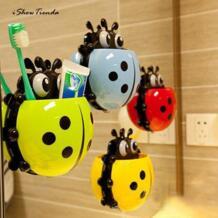 Новый 1 шт. 13,5*14*3,5 см творческий милый мощный всасывания держатель для зубной пасты и для зубной щетки желтый зубная щётка держатель для Ванная комната Декор ISHOWTIENDA 32861739328