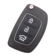 3 кнопки складной дистанционного брелока чехол Uncut Нож для Hyundai Santa Fe IX45 автомобиля Средства для укладки волос HKCYSEA 32802838339