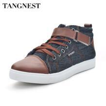 TANGNEST/Новинка 2017 года Для мужчин повседневная обувь модный пэчворк Для мужчин Туфли без каблуков британский стиль высокие Обувь Мужская парусиновая обувь размеры 39–44 xmr093 No name 2015834077