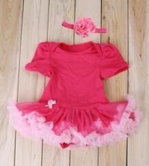 Новая Мода Новорожденный Младенец Девочка Одежда Ropa де Bebe Принцесса Цветы Повязка Боди No name 32605668772