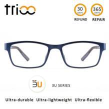 уникальный 3U серии Рецептурные очки ультра прочные ультра легкие Ультра гибкие очки близорукость очки для глаз минус trioo 32866471422