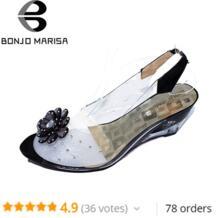 BONJOMARISA/Большие размеры 34-43 заводская цена Рим стильный высокое качество каблук танкетка сандалии платье Повседневная обувь, сандалии XB140 No name 1043006129