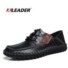 Aleader Мужские туфли из натуральной кожи повседневные Ручной Работы Дизайнера Обувь Мужская мода платье Лоферы для вождения мокасины для мужчин Sapatos No name 32721609822