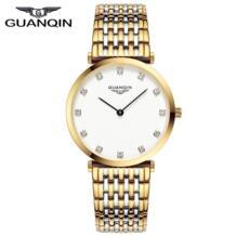 великолепные ультра тонкий Дизайн Для женщин часы Водонепроницаемый Роскошные Кварцевые часы женские фирменные часы Relogio Feminino GUANQIN 32385511802