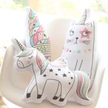 1 шт. милый Rainbow Unicorn кошка мороженое плюшевые подушки дивана подушку украшения дома подарки на день рождения Детские игрушки No name 32891670653