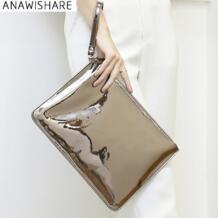 2018 Для женщин Ежедневные клатчи мешок конверт дамы Вечеринка сумка кожаные сумочки высокое качество Bolsas Feminina Wmh55 ANAWISHARE 32673690957
