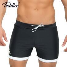 бренд для мужчин's купальники для малышек сплошной черный цвет одноцветное традиционные длинные купальники доска пляжные шорт-in Пляжные шорты from Мужская одежда on Aliexpress.com | Alibaba Group TADDLEE 32805826368