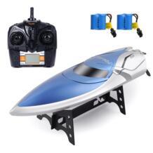 RC лодка бассейн игрушки высокоскоростной пульт дистанционного управления лодка для бассейна 4CH 2,4G RC игрушки для взрослых и детей + Аккумуляторы для игрушек Детский Рождественский подарок GizmoVine 32855062396