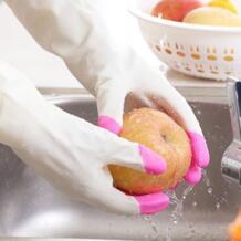 Прочный ПВХ Кухня очистки перчатки для мытья посуды одежда по дому No name 32865590567