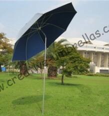 1,8 м диаметр пляжный зонтик для рыбалки, открытый вручную, алюминиевый Мути-функциональный пляжный зонтик, стекловолокно Длинные ребра, двойной слой, ветрозащитный No name 1855776013