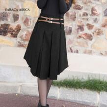 Новинка, розничная продажа, однотонная плиссированная юбка, 2 цвета, женская модная короткая юбка до середины икры, Зимняя юбка для девочек No name 743490197