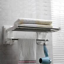 40 см длинные всасывания полотенце для чашек баров для ванной из нержавеющей стели полотенца s стержень стойки дома ванная комната хранения организации легко установка NarwalDate 32817563189