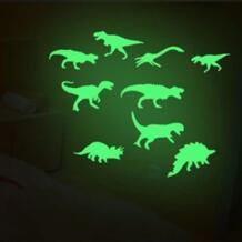 9 шт. Светящиеся в темноте динозавры игрушки наклейки 1 компл.. потолочная наклейка детская комната забавные украшения наклейки Santtiwodo 32952126369