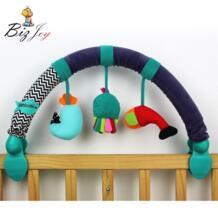 67 см детские погремушки мобильные телефоны детская кроватка коляска игрушка 0-12 месяцев можно согнуть коляски музыкальные кровать новорождённого Висячие мягкие игры HAPPY MONKEY 32783043262