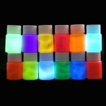 12 цветов краска для тела светится в темноте краска для лица светящаяся Сделай Сам краски искусство для Хэллоуина вечерние DIY 1 шт. DesertCreations 32833743836