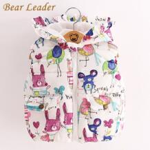 Bear Leader/Детские Костюмы верхняя одежда и пальто 2018 новые Осенняя одежда для маленьких девочек Жилетка с животным принтом для девочек No name 32703360249