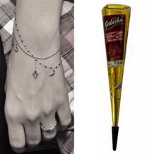 Черный хна набор конусов Mehendi Комплект тела живопись искусство akvagrim хна с шт. 1 шт. татуировки стикер pinkiou 32849946906