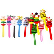 1 шт. детские игрушки погремушки деревянные действия колокольчик палка шейкер детские игрушки для новорожденных детские мобильные погремушки детские игрушки случайный VKTECH 32778968784