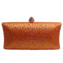 Ярко-оранжевый клатч с кристаллами, вечерние клатчи для женщин, вечерние сумочки с кристаллами и клатч в коробке, черный/зеленый/фиолетовый/серый/золотой Royal Nightingales 32800647293
