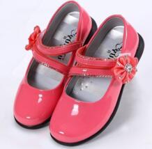 Лето 2016 сандалии для девочек модная детская Туфли к платью принцессы из искусственной кожи девочка плоским Обувь (Little Kid/Big Kid) No name 32696498055