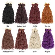 Leeons 6 шт./упак. 15strands/шт 20 Inch синтетический плетения волос вязаный крючком косы дреды Фиолетовый Белый Черный Цвет No name 32899803711