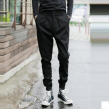 30-42! Осенняя и зимняя мужская новый тонкий штаны-шаровары Bootcut повседневные ноги брюки ds dj этап одежда костюмы Бесплатная доставка No name 32595891785