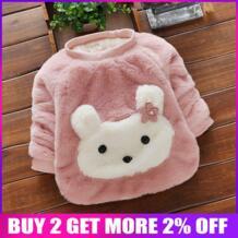 Бибикола новорожденный/свитер для маленьких девочек, детский Толстый Пуловер с рисунком кролика, свитер, детская зимняя теплая одежда, одежда для девочек BibiCola 32823758910