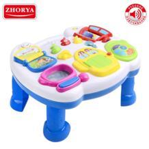 Ранние обучающие настольные игрушки Дети музыкальный стол с русским с голосом и мелодией и светом для маленьких мальчиков и девочек детей Zhorya 32956302735