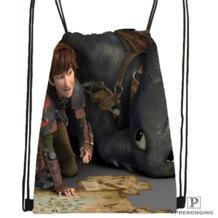 Пользовательские how_to_train_your_dragon Drawstring сумка-рюкзак милый рюкзак детский Ранец (черный назад) 31x40 см #180611-03-134 P PRENONGING 32898362614