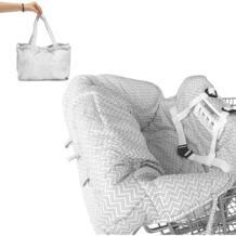 Серый Портативный ребенка корзину Обложка Pad безопасности мягкий удобный стульчик сиденья крышка складной No name 32855465178