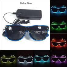 2019 Новый дизайн Мода 10 цветов EL провода светодиодные очки с темными линзами неоновая веревка трубка с Steady устойчивый на вечерние Декор YEAHUI EL 32820243330