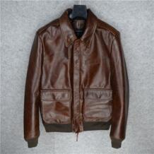 Air force полета A2 пилот кожаная куртка высокого качества из натуральной коровьей кожи одежда очень хорошее качество натуральной A2 куртка AVIREXFLY 32860671651