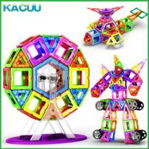 19-125 шт. большой размер магниты строительные блоки конструктор Магнитный конструктор строительные игрушки модель игрушки для детей KACUU 32854485087
