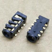 10 шт./лот Позолоченные 3,5 мм разъем для наушников 8 P SMT аудио женский гнездо разъема PJ-393-8P No name 32349130209
