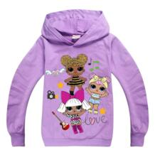 2019 новый свитер для девочек детские толстовки LOL Surprise Куклы костюм Детская куртка Верхняя одежда для девочек толстовка с капюшоном, куртка одежда Ling Qi Shi Zu 32951029046