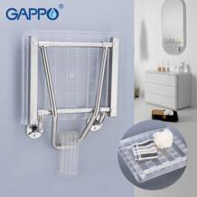 настенный Сиденье для душа душ Складной Сиденье настенный душ сиденье белый стул складной Туалет стул для пожилых людей Gappo 32953871022