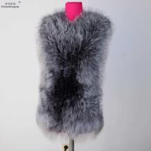 Linhaoshengyue silver fox круглый воротник кожа натуральный Лисий мех жилет натуральный мех, зимой, теплое пальто No name 1637752192
