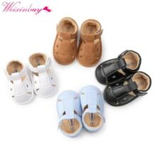 Обувь для малышей, сандалии для новорожденных девочек, летние сандалии для новорожденных мальчиков, Повседневные Дышащие детские сандалии WEIXINBUY 32857230617