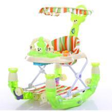 Малышей Многофункциональный ходок с игрушками Pu подушке Babywalker 6-18 месяцев дети Анти-опрокидывание Push может занять ребенка wakler No name 32876989489