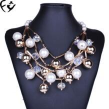 Новая модная женская одежда аксессуары европейско-американская популярность Многослойные Золотое ожерелье FY 32793481795