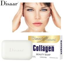 коллаген мыло ручной работы очищающее средство для лица Питательный глубокой очистки кожи уход отбеливание против морщин Anti-aging Disaar 32862786376