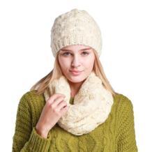2018 новый комплект шапка и шарф для Для женщин зима мода шерстяные Вязание шапочка зимняя Кепки и шарф Для женщин шапочки для дамы No name 32728963191