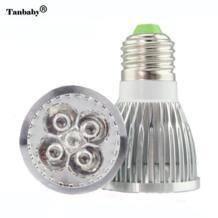 E27 10 Вт светодио дный завод растут AC85-265V 4 красный 1 синий Высокое Мощность светодио дный растениеводства лампы аквариум светодио дный освещения Tanbaby 32292605445