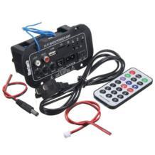 Горячая 1 комплект Автомобильный Bluetooth усилитель HiFi бас усилитель мощности Цифровой стереоусилитель USB TF пульт дистанционного управления для автомобиля аксессуары для дома No name 32917459009